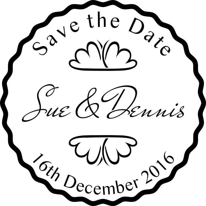Angelic Innocence Save The Date Wedding Custom Round Address Stamp Self Inking Personalized Rubber Stamp With Return Address